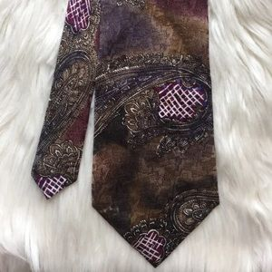 Albert Nipon Multicolor Paisley Silk Tie